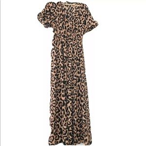 Shein Animal Print Maxi Dress Cheetah shortsleeve